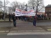 Pikieta wytwórców i dostawców biomasy dla polskich elektrowni odbyła 4 marca na głównym rondzie w Skwierzynie.