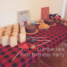 Great Danes & Baby Names: LumberJack First Birthday Party
