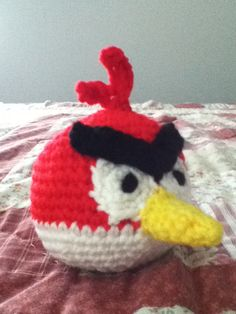 Crochet Amigurumi Angry Birds Red Cardinal Doll by ShimmereeCreations on Etsy