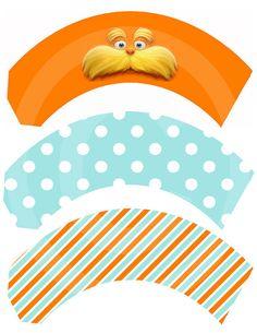 diy Lorax Dr. Seuss descargable freebie cupcake wrappers miraquechulo