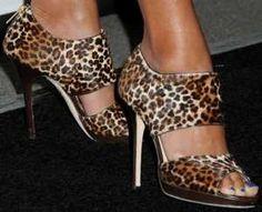 Jimmy Choo Private Leopard Sandals – Eva La Rue