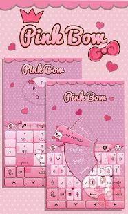 Pink Bow GO Keyboard Theme- screenshot thumbnail