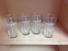 Set of 4 GUINESS  - Glasses Pint Beer  NEW!  Pub Bar Man Cave Fathers Day Gift