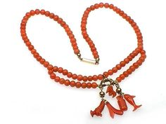 Antique Mediterranean Coral necklace