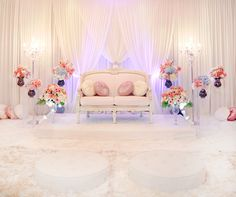 Nice setup - refreshing for the eyes. A simple backdrop would be nice, very suitable for daytime weddings