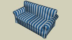 Large preview of 3D Model of EKTORP Loveseat (2 seat)