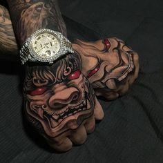 Irezumi Collective t Irezumi Tattoos, Tatuajes Irezumi, Skull Tattoos, Forearm Tattoos, Finger Tattoos, Body Art Tattoos, Tattoo Ink, Tattoo Flash, Hannya Mask Tattoo
