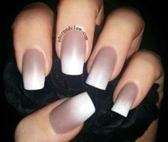 Nude and White Matte Gradient