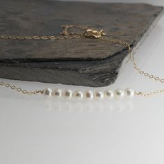 White Pearl Bar Necklace,Gold Bar,Gemstone Necklace,Gemstone Bar,Rondelle Faceted Necklace,Carrie Style Necklace,Dainty Necklace,Gift by FortunArtJewelry on Etsy