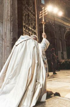 Pope John Paul II during the opening ceremony of the Holy Door.