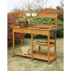 Deluxe Potting Bench Organize Gardening Supplies Large Working Area & Sink New #ConvenienceConcepts