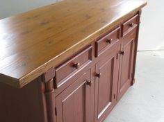 painted kitchen island wood top - Google Search
