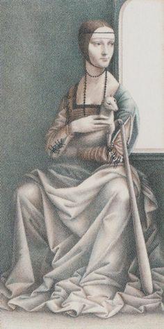 Queen of Wands - Leonardo Da Vinci Tatot by A. Atanassov, Iassen Ghiuselev