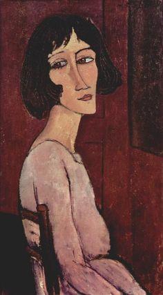 'Portrait of Margarita', öl auf leinwand von Amedeo Modigliani (1884-1920, Italy)