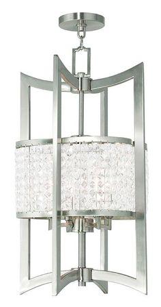 Livex Lighting Grammercy Brushed Nickel Lantern 50567-91