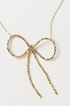 Bow necklace - Anthropologie