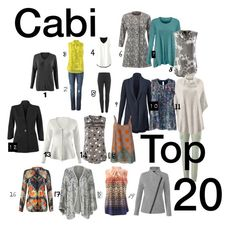 """""""Cabi Top 20"""" Polyvore featuring CAbi  www.jeanettemurphey.cabionline.com"""