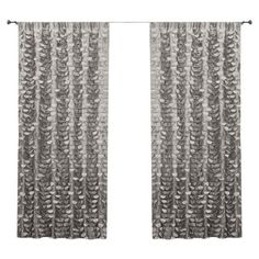 Textured gray curtain panel.   Product: Set of 2 curtain panelsConstruction Material: 100% PolyesterColo...
