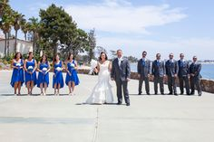 What a beautiful Bridal party!  | Photo by Blue Spot Photography