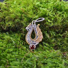 Dragon Pendant Jörmungandr Norse Viking Dragon. Celtic by RuyaN