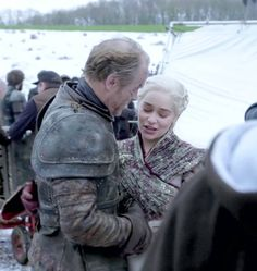 it's so good to see my babies happy for me to get rid of the sadness that was game of thrones in the last episodes Emilia Clarke Daenerys Targaryen, Game Of Throne Daenerys, Valar Dohaeris, Valar Morghulis, Ser Jorah Mormont, Bear Island, Iain Glen, Series Movies, Tv Series