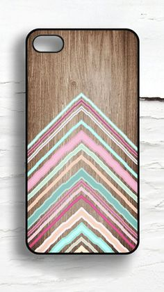 Chevron  Faux Wood iPhone Case
