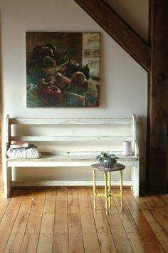love the painting and the bench