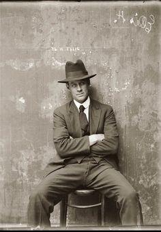 1920s police mugshot