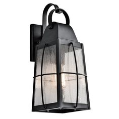 Kichler Tolerand 17.75-in H Textured Black Outdoor Wall Light