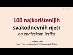 100 najkorištenijih svakodnevnih riječi na engleskom jeziku - YouTube The 100, Cards Against Humanity, Youtube, Youtubers, Youtube Movies
