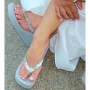 beach wedding sandal . . . and I do love a nice flip flop :+)