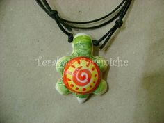 Ciondolo tartaruga ceramica