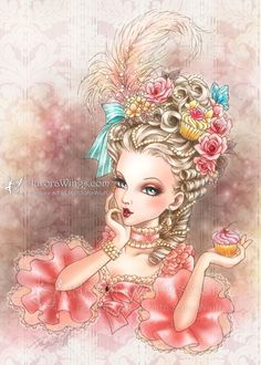 Aurora Wings - Fantasy Art of Mitzi: Marie Antoinette