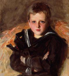 Artist: John Singer Sargent  [1856-1925]    Title: Portrait of Caspar Goodrich    Date: ca.1887  Medium: oil on canvas  Dimensions: 66 x 48 cm (26 x 19 inches)  Location: private collection