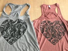 Black Heart Fun Tanks and T-shirts image 2 Cool Tanks, Cool T Shirts, Handmade Gifts For Friends, T Shirt Image, How To Make Tshirts, Black Heart, Black Tank, Workout Wear, Tshirt Colors