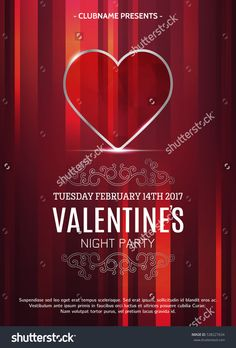 Valentines Day Party Poster Design Template. Elegant Design. Ruby Heart. Stock Vector Illustration 538227634  14, artwork, backdrop, background, banner, brochure, business, card, celebration, club, couple, crystal, day, decoration, design, disco, element, event, february, flyer, glamor, glossy, gold, greeting, heart, holiday, illustration, invite, label, light, love, music, night, paper, party, poster, precious, red, symbol, template,  valentine, valentines day, vector