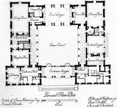 double staircase foyer house plans - Google Search | Interior ...