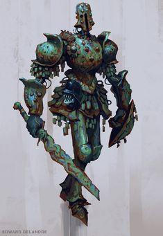ArtStation - Robot knight guy, Edward Delandre