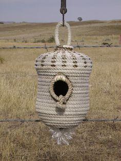 Rope Birdhouse-Acorn shape