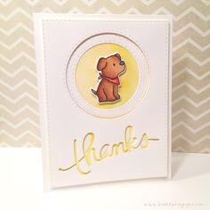 CAS Mama Elephant Playful Pups card - bjl