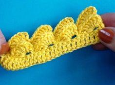 crochet border - YouTube ~☆~ Teresa Restegui http://www.pinterest.com/teretegui/ ~☆~