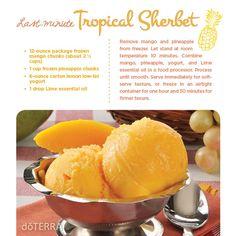 Last Minute Tropical Sherbet Recipe
