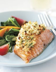 Horseradish-Crusted Wild Pacific Salmon    #dinner #recipes