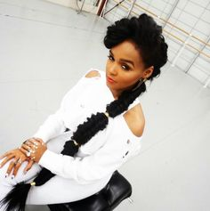Janelle Monae Yoga video Hair
