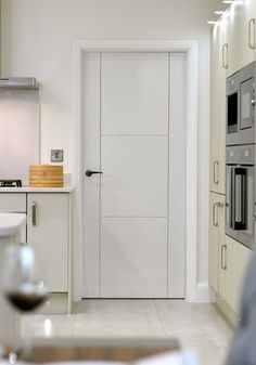 Tigris white contemporary contemporary pre finished white internal mistral white contemporary white flush internal door with grooved ladder style effect planetlyrics Gallery