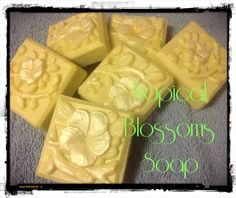 New for October Tropical Blossoms Soap