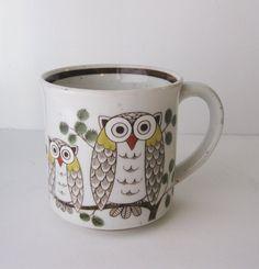 Vintage Owl Mug by SwankyLadyVintage on Etsy, $7.00