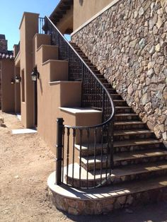 Image result for outdoor stairs with stucco siding