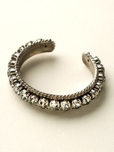 Quintessential Woven Cuff Bracelet in Crystal Rock by Sorrelli - $115.00 (http://www.sorrelli.com/products/BCN1ASCRO)