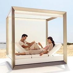Vela4 Daybed with Sun Canopy